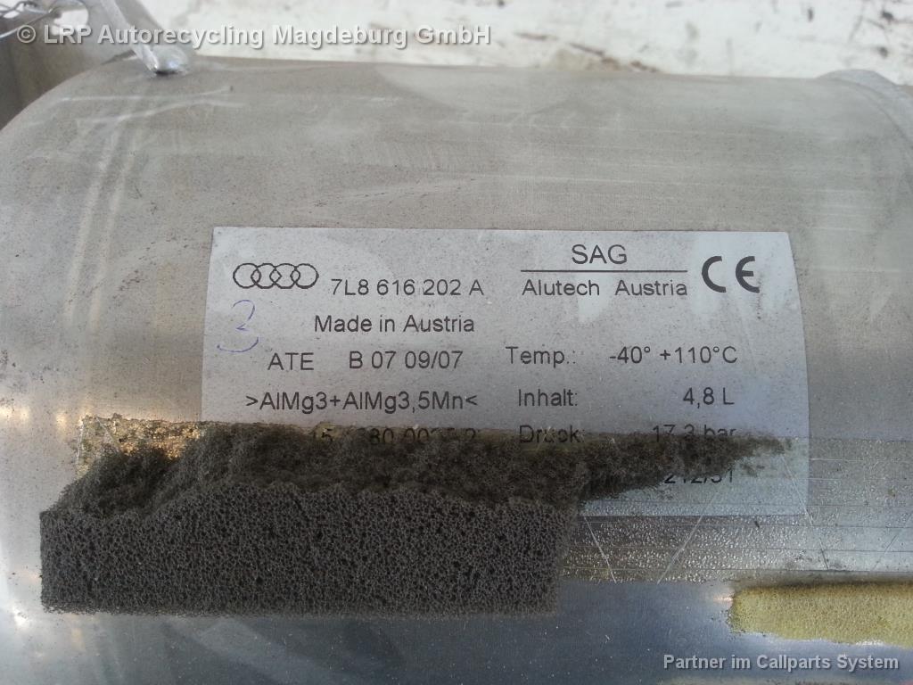 Audi Q7 4L Bj.08 Druckspeicher Luftfahrwerk hinten 7L8616202A