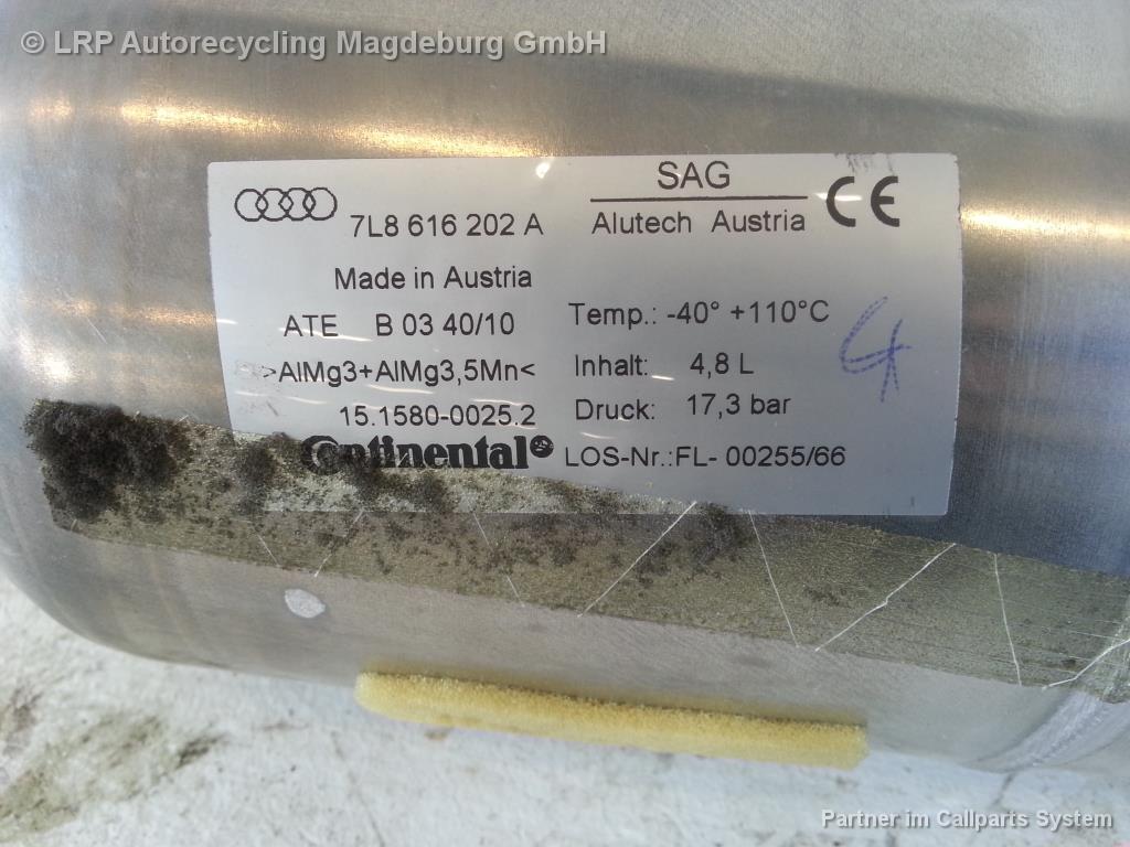 Audi Q7 4L Bj.11 Druckspeicher Luftfahrwerk hinten 7L8616202A neuwertig