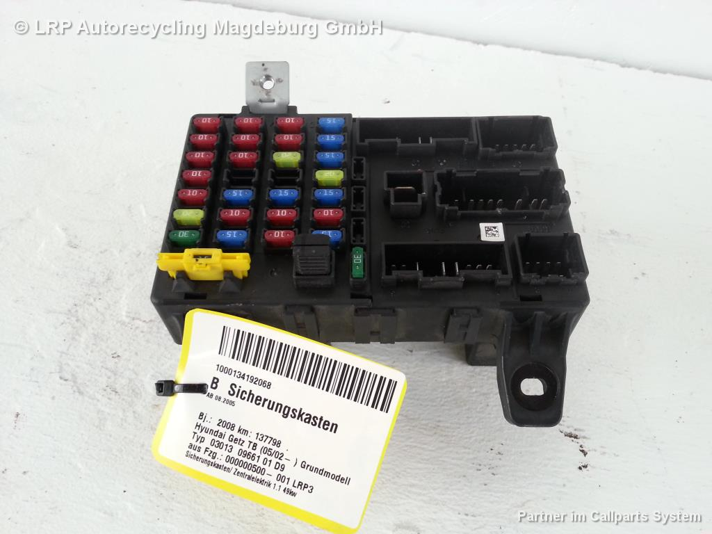 Hyundai Getz TB ab05 Bj.08 Sicherungskasten Zentralelektrik 91198-1C020
