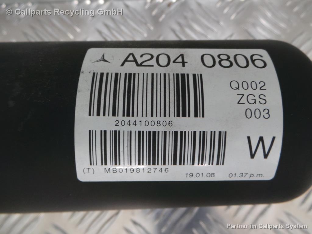 Mercedes C-Klasse W204 3,0L 170KW Automatik Kardanwelle A2044100806 Bj.2008