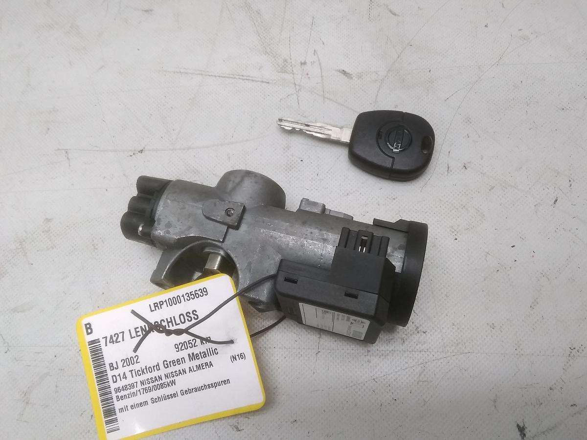Nissan Almera N16 Bj.2002 original Zündschloss mit einem Schlüssel