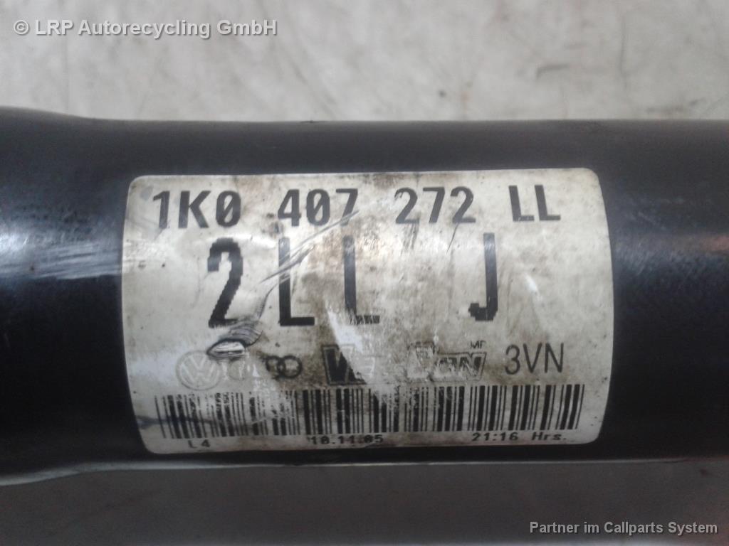 VW Jetta 1K2 1,4TSI 125KW Bj.2007 Gelenkwelle Antriebswelle 1K0407272LL vorn rechts