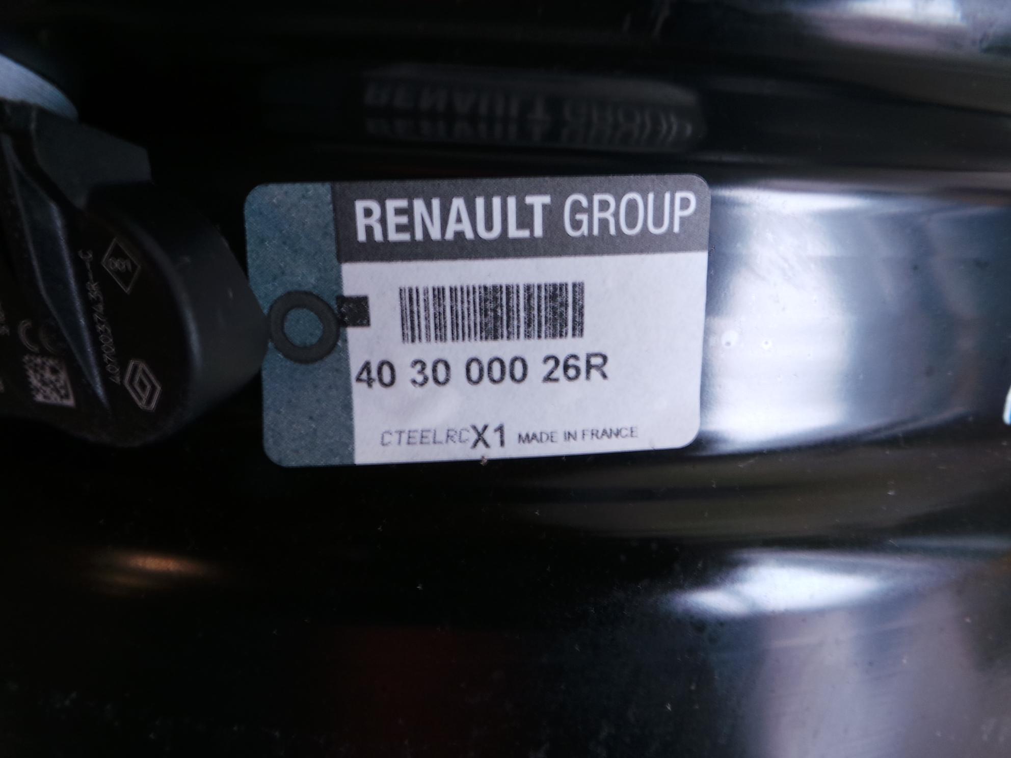Renault Megane 3 III 08-13 Satz Stahlfelgen 6.5x15 ET43 5-Loch 6,5x15