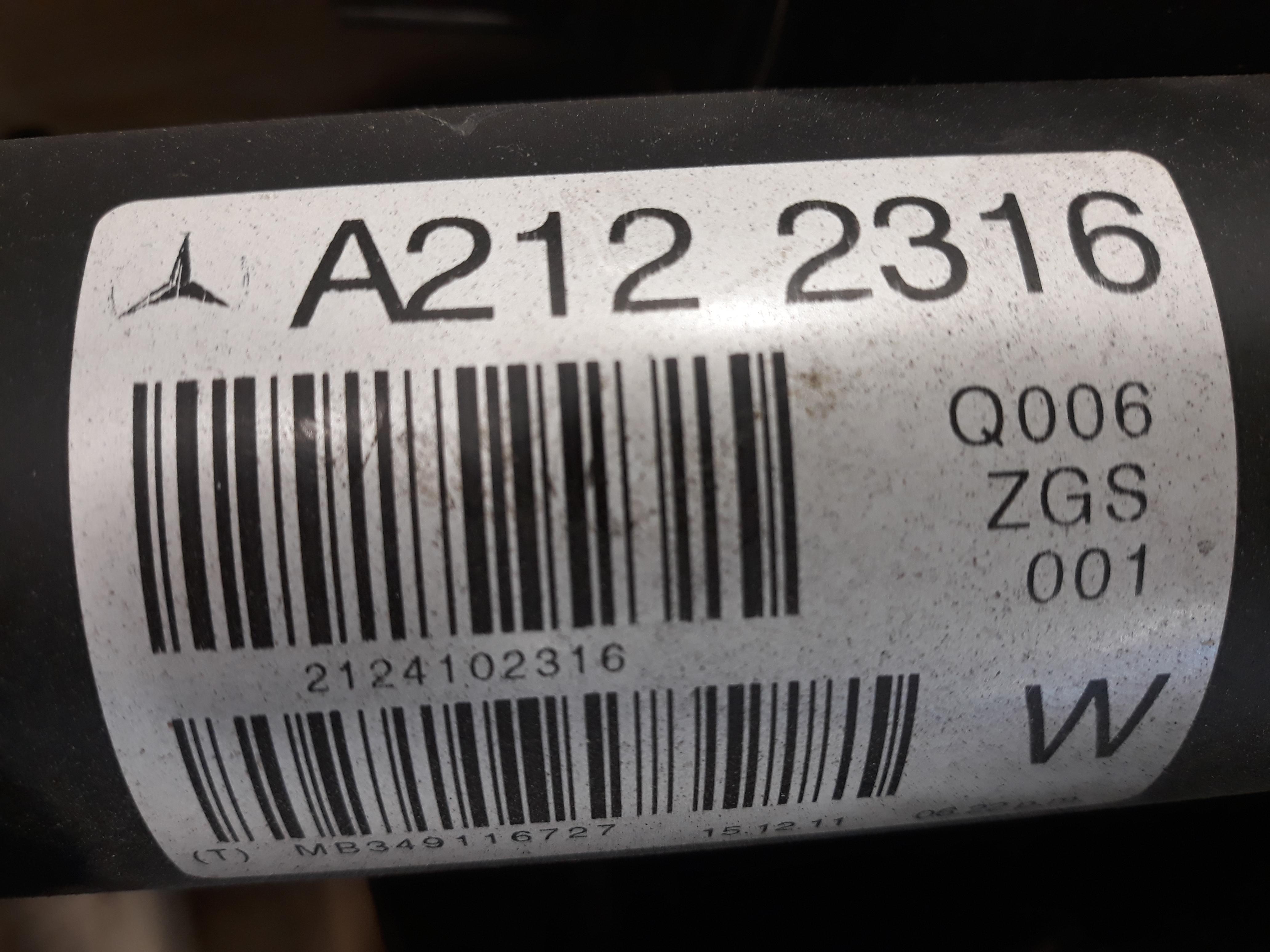 Mercedes E Klasse W212 Kardanwelle BJ2012 2,2CDI 100kw 651925