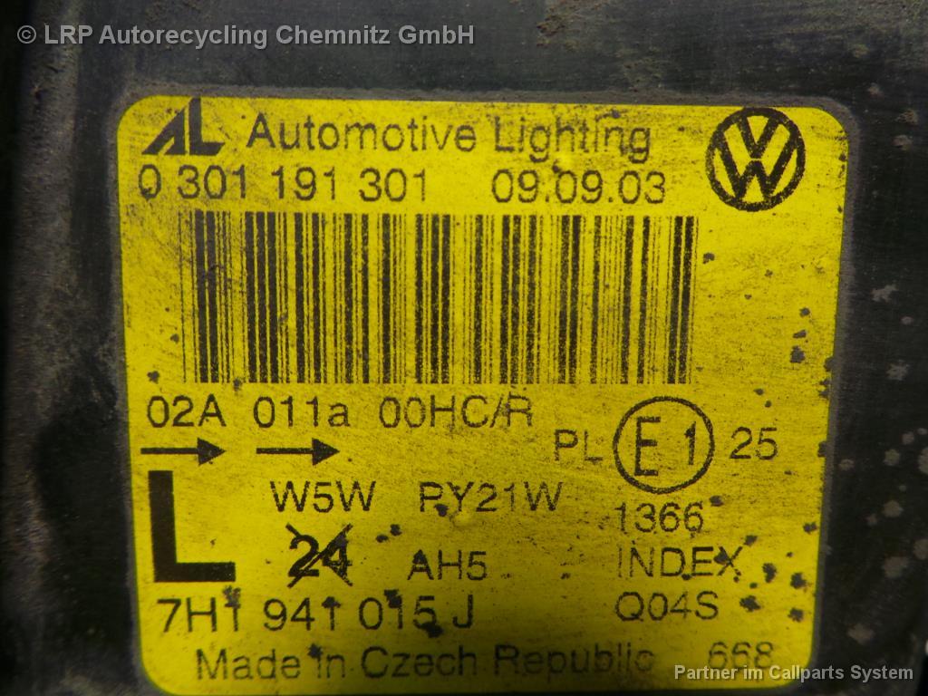 VW T5 BJ 2006 Scheinwerfer vorn links Lampe 7H1941015J
