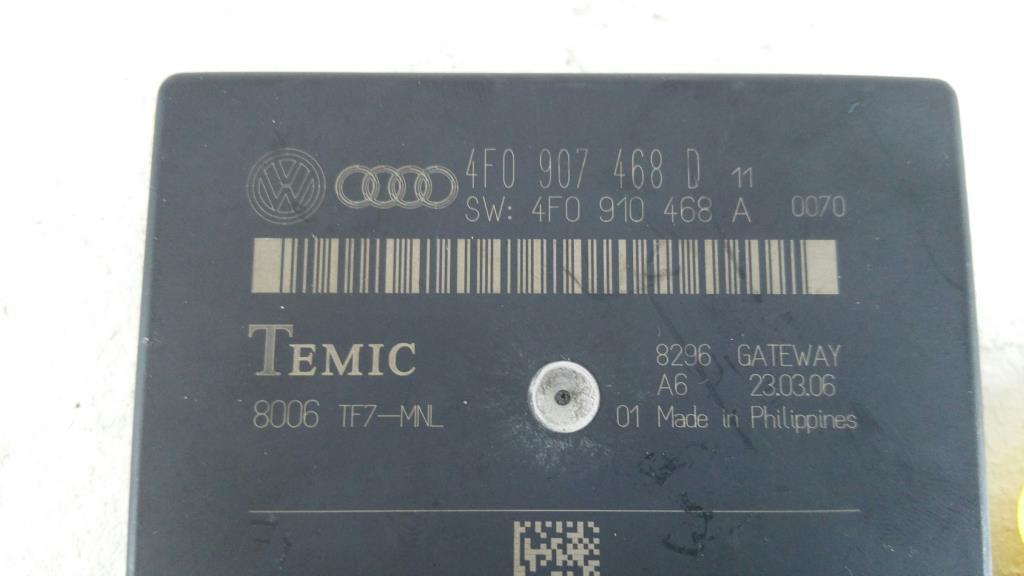 Audi A6 4F Bj.06 Avant original Gatewaymodul 4F0907468D TEMIC