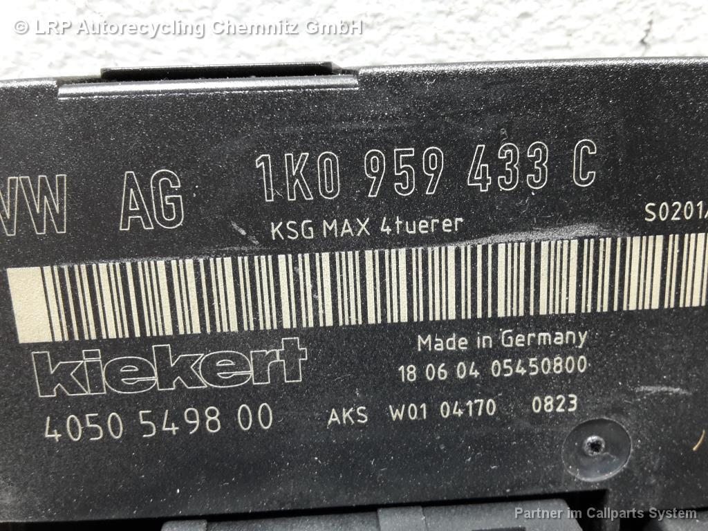 VW Touran 1T BJ 2004 Steuergerät Komfortsystem 1K0959433C Komfortsteuerteil