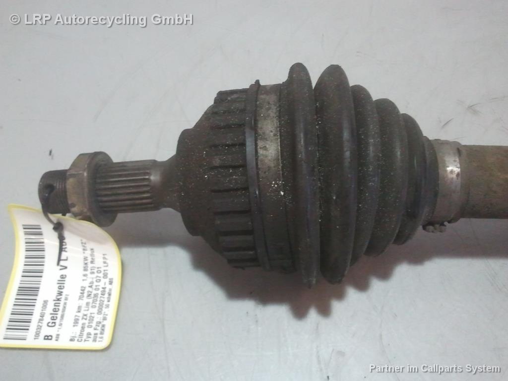 Citroen ZX Bj.1997 Antriebswelle Gelenkwelle links 1.6 85kw *BFZ* ABS