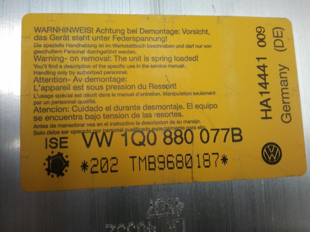 VW Eos 1F BJ2008 Ueberrollschutz rechts unfallfrei 1Q0880077B